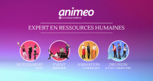 Recrutement Evenementiel, Street Marketing, Animation commerciale - Animeo